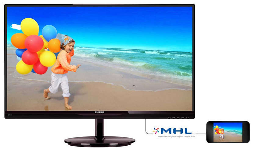 "Монитор Philips 274E5QHSB 27"" LED IPS Бордовый, 274E5QHSB/01"