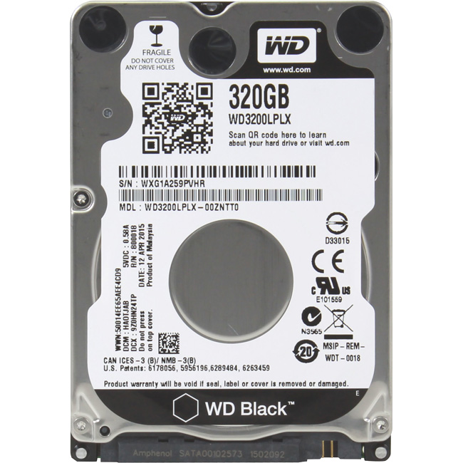 "Диск HDD Western Digital Black SATA III (6Gb/s) 2.5"" 320GB, WD3200LPLX"