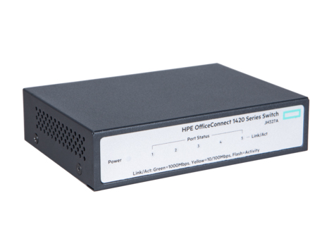 Коммутатор HP Enterprise OfficeConnect 1420 Неуправляемый 5-ports, JH327A