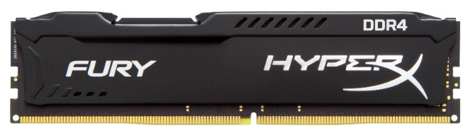 Модуль памяти Kingston HyperX FURY Black 4ГБ DIMM DDR4 non ECC 2133МГц, HX421C14FB/4