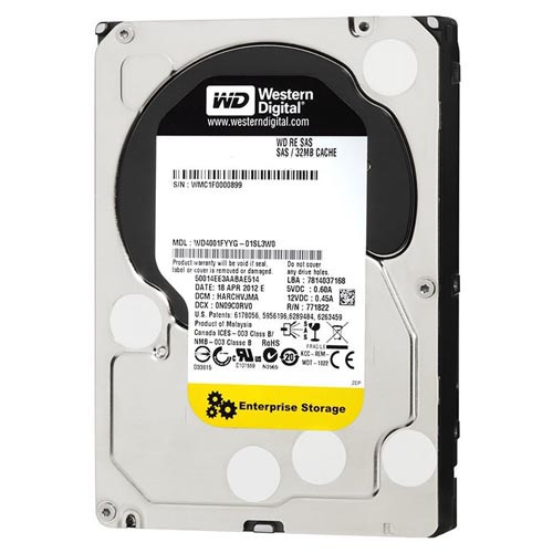 "Диск HDD Western Digital RE SAS 2.0 (6Gb/s) 3.5"" 3TB, WD3001FYYG"