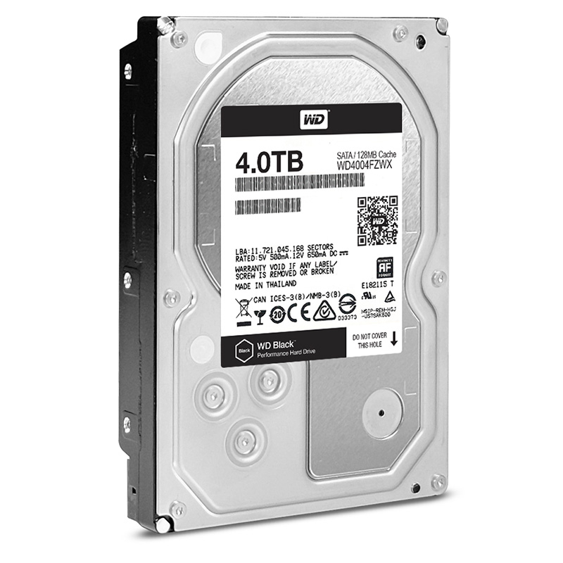 "Диск HDD Western Digital Black SATA III (6Gb/s) 3.5"" 4TB, WD4004FZWX"