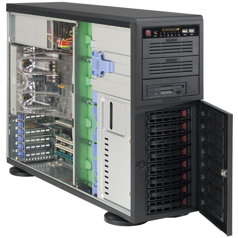 Корпус Supermicro SuperChassis 743TQ-1200B-SQ Full Tower 1200Вт Чёрный, CSE-743TQ-1200B-SQ