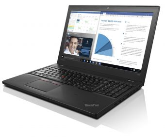 "Ноутбук Lenovo ThinkPad T560 15.6"" 1920x1080 (Full HD) Intel Core i5 6200U 8 ГБ SSD 256GB Intel HD Graphics 520 Windows 7 Professional 64 + Windows 10 Pro 64, 20FH001BRT - фото 1"