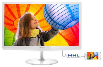 "Монитор Philips 227E6QDSW 21.5"" LED IPS 250кд/м² 1920x1080 (Full HD) Белый 227E6QDSW/00"