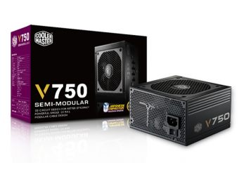 Блок питания Cooler Master V750 ATX 80+ Gold 750Вт, RS750-AFBAG1-EU