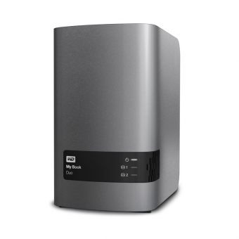 "Внешний диск HDD Western Digital My Book Duo 8TB 3.5"" USB 3.0 Серый WDBRMH0080JCH-EEUE - фото 1"