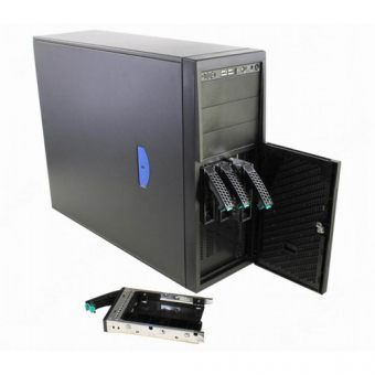 Корпус Intel Union Peak P4000S Tower 365Вт Чёрный 4U (mATX) P4304XXSFCN