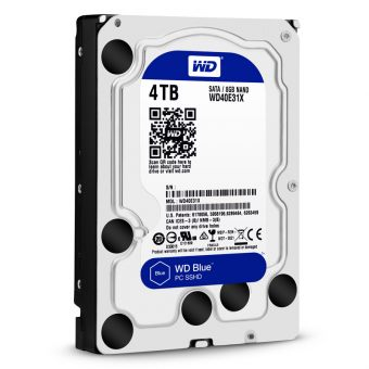 "Диск HDD Western Digital SATA III (6Gb/s) 3.5"" Blue SSHD  64MB 4TB + 8GB WD40E31X"