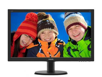 "Монитор Philips 240V5QDSB 23.8"" LED IPS 250кд/м² 1920x1080 (Full HD) Чёрный 240V5QDSB/01"