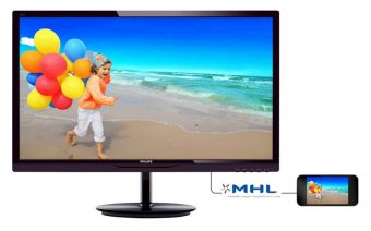 "Монитор Philips 284E5QHAD 28"" LED MVA 300кд/м² 1920x1080 (Full HD) Чёрный 284E5QHAD/00"