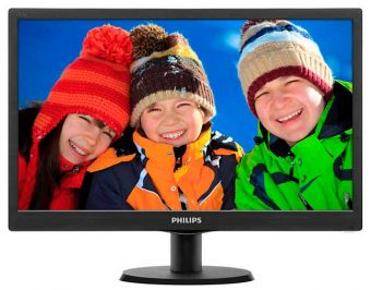 "Монитор Philips 193V5LSB2 18.5"" LED TN 200кд/м² 1366x768 (WXGA) Чёрный 193V5LSB2/10"