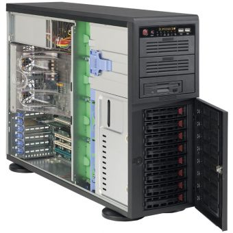 Корпус Supermicro SuperChassis 743TQ-865B Full Tower 865Вт Чёрный 4U (ATX/E-ATX/mATX) CSE-743TQ-865B